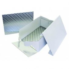 "14"" x 10"" White Oblong Cake Box With Card"
